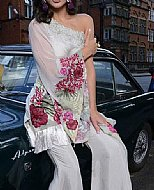 Off-white Chiffon Suit