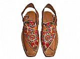 Ladies Chappal- Brown- Pakistani Khussa Shoes