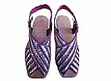 Ladies Chappal- Silver- Pakistani Khussa Shoes
