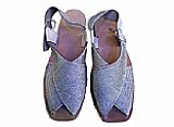 Ladies Chappal- Silver/Gold
