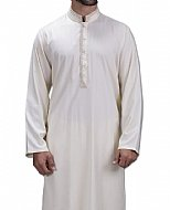 Off-white Men Shalwar Kameez