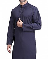 Navy Blue Men Shalwar Kameez