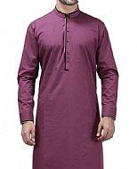 Magenta Men Shalwar Kameez Suit