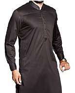 Metal Grey Men Shalwar Suit