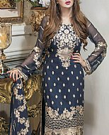 Oxford Blue Chiffon Suit