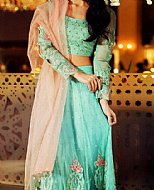 Light Turquoise Chinese Chiffon Suit.