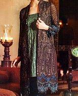 Dark Brown Chinese Chiffon Suit.
