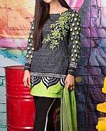 Black/Lime Khaddar Suit