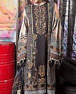 Beige/Black Khaddar Suit (2 Pcs)