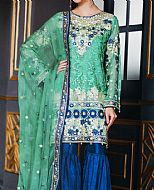 Sea Green/Blue Chiffon Suit