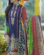 Blue Karandi Suit- Pakistani winter dress
