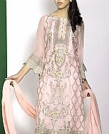 Light Pink Crinkle Chiffon Suit
