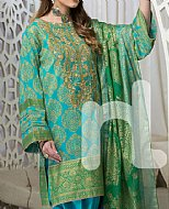 Turquoise/Green Lawn Suit