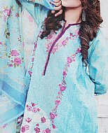 Light Turquoise Lawn Suit
