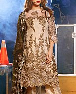 Light Golden Cotton Net Suit