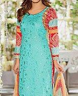 Turquoise Lawn Suit