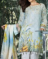 Sky Blue Lawn Suit- Pakistani Lawn