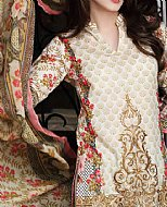 Ivory/Pink Lawn Suit