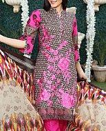 Black/Pink Lawn Suit