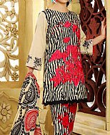 Ivory/Red Khaddar Suit