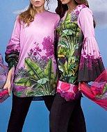Lilac/Black Lawn Suit (2 Pcs)