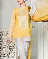 Yellow Lawn Suit (2 Pcs)