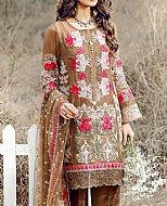 Brown Chinese Chiffon Suit