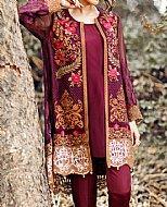 Magenta Chinese Chiffon Suit