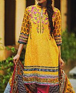 Yellow/Hot Pink Khaddar Suit