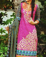 Hot Pink Khaddar Suit