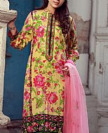 Yellow/Pink Lawn Suit- Pakistani Cotton dress