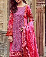 Hot Pink Lawn Suit- Pakistani Lawn