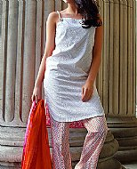 Silver/Pink Lawn Suit.- Pakistani Designer Lawn Dress