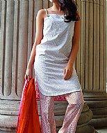 Silver/Pink Lawn Suit.- Cotton dress