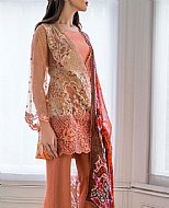 Peach Lawn Suit- Pakistani Lawn Dress