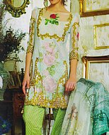 Light Green Lawn Suit- Pakistani Designer Lawn Dress