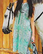 Light Green Lawn Suit.- Pakistani Cotton dress