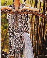 Ivory/Beige Jacquard Lawn Suit.