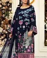 Navy Blue Chiffon Suit- Pakistani Chiffon Dress
