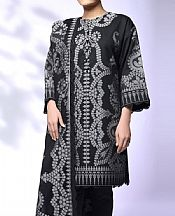 Black Jacquard Suit- Pakistani Chiffon Dress