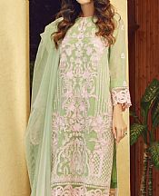 Light Green Cotton Net Suit- Pakistani Chiffon Dress