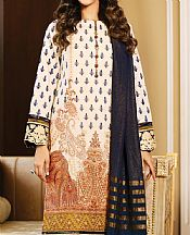 White Dobby Suit- Pakistani Chiffon Dress