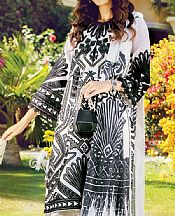 Black/White Cotton Net Suit- Pakistani Designer Chiffon Suit