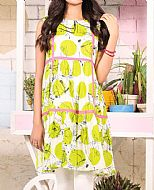 Lime/White Lawn Kurti- Pakistani Designer Lawn Dress