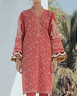 Carrot Pink Lawn Kurti- Pakistani Designer Lawn Dress