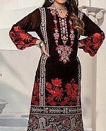 Brown Velvet Kurti- Pakistani Winter Dress
