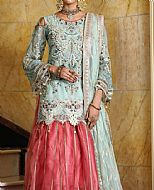 Light Turquoise Chiffon Suit- Pakistani Chiffon Dress