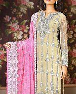 Ivory/Pink Chiffon Suit