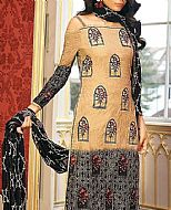 Beige/Black Lawn Suit- Pakistani Lawn Dress