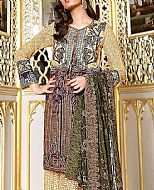 Ivory/Olive Lawn Suit- Pakistani Lawn Dress